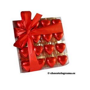 Chocotelegrama 16 corazones
