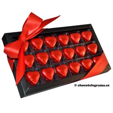 Chocotelegrama 18 corazones