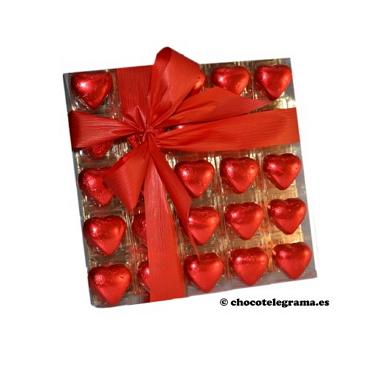 Chocotelegrama 25 corazones