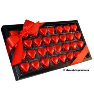Chocotelegrama 32 corazones