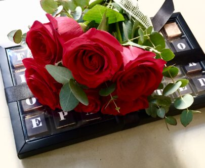 bombones y flores,