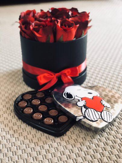 Caja metálica Snoopy & corazón