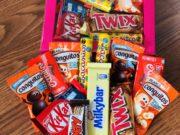 kit de chocolates con 25 piezas y pizarra con mensaje personalizado