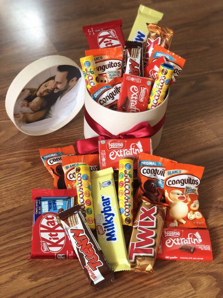 Caja kit chocolates con foto personalizada