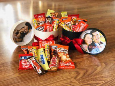 Kit de chocolates en caja regalo con foto personalizada