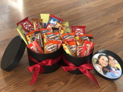 Kit de chocolates en caja grande regalo con foto personalizada